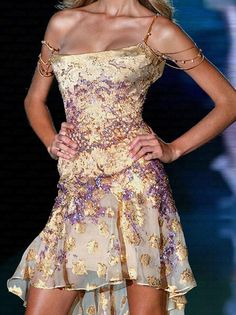 Elie Saab dress. Love the neckline, straps, bodice, floaty skirt ... everything, in fact.
