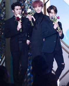 Sehun, Baekhyun and Chanyeol
