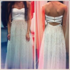 Simple but cute. Maybe with out the straps on the back ..Prom <3