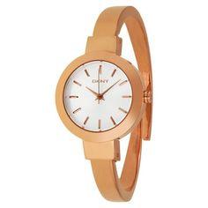 DKNY Stanhope Rose Gold-Tone Bangle Ladies Watch