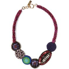 Etro Gold-plated, bead and crystal necklace ($240) ❤ liked on Polyvore featuring jewelry, necklaces, red, multi colored bead necklace, red crystal necklace, multicolor necklace, colorful necklaces and multi color beaded necklace