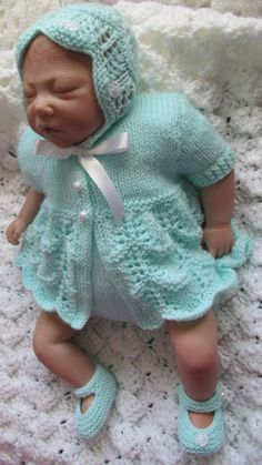 Knitting pattern matinee jacket  for reborn by BerniceMaydesigns, £2.50