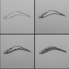 Uplifting Learn To Draw Faces Ideas. Incredible Learn To Draw Faces Ideas. How To Draw Eyebrows, How To Draw Hair, Learn To Draw, Drawing Eyebrows, Eyebrows Sketch, How To Draw A Nose, Art Drawings Sketches, Pencil Drawings, Eye Drawings