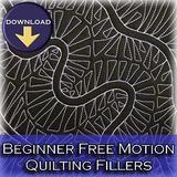 beginner free motion quilting | beginner quilting designs