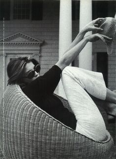 Stephanie Seymour photographed by Jacques Lowe for Gerard Darel, 1998 #inspiration #blog #blogger #tumblr #fashion #style #models #photography #vogue http://www.midnight-charm.com/