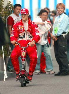 Michael Schumacher Valentino Rossi, Grand Prix, Alain Prost, Formula 1 Car Racing, Boys Leather Jacket, Carros Lamborghini, Michael Schumacher, Gp F1, Parkour