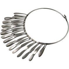 Elsa Freund Modernist Sterling Kinetic Fringe Necklace