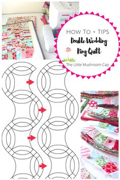 double wedding ring quilt tips on how to and suggested template - Double Wedding Ring Quilt Templates