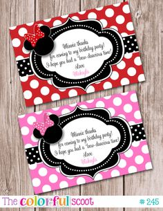 Minnie+Mouse+Thank+You+Card+Disney+Disney+by+TheColorfulScoot,+$8.00