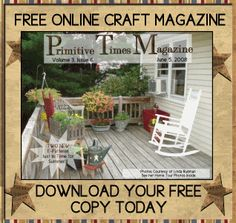 free images of primitive crafts | Primitive Times Magazine: 06/01/2008 - 07/01/2008
