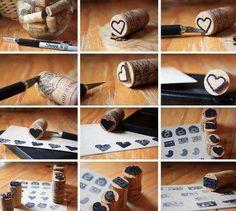 Como hacer un sello reciclando un corcho.