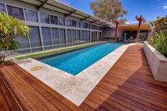 Swimming Pool Contractors & Builders in Victoria Swimming Pools Backyard, Swimming Pool Designs, Pool Landscaping, Pool Contractors, Pool Colors, Small Pool Design, Pool Images, Concrete Pool, Pool Installation