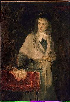 Munkácsy Mihály (1844-1900) Milton című képe főalakjának tanulmánya