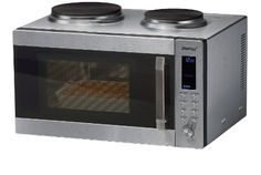 Steba KB 52 Kompaktküche mit Mikrowelle / Heißluft / Grill / 2 Kochfleder