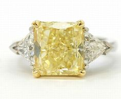 Yellow Diamond Ring Fancy Diamond Jewelry