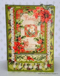 Graphic 45 Helen Philips 12 Days of Christmas Card