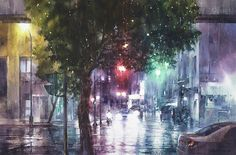 "Lin Jingzhe ""City of Spring"" 2013 watercolor 50 × 75cm | by Lin Jingzhe / Lin, Ching-Che"