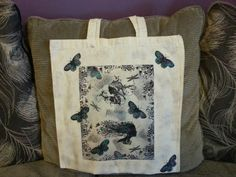 Canvas bag decorated using indigoblu stamps