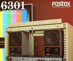 Vintage Fostex 6301monitors @majormusicaus.