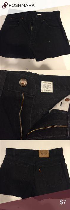 Levi's Black Jean Shorts Levi's Black Jean Shorts, originally pants, cut into DIY SHORTS, 5 pocket, never worn Levi's Shorts Jean Shorts
