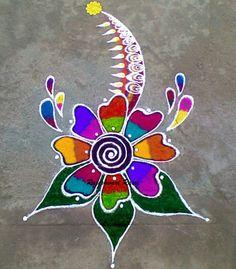 Indian Rangoli Designs, Rangoli Border Designs, Small Rangoli Design, Rangoli Designs Images, Beautiful Rangoli Designs, New Year Rangoli, Diwali Rangoli, Learn To Sketch, Rangoli Borders