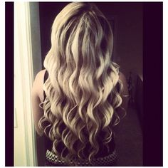 Blonde Curled Hair ❤ liked on Polyvore featuring hair, backgrounds and beauty