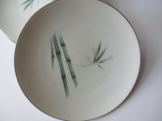 Vintage Sango Bamboo Dinner Plates Set of Five by thechinagirl