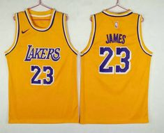 163f6acb335 Men's Los Angeles Lakers #23 LeBron James Yellow 2018-2019 Nike Swingman  Stitched NBA Jersey