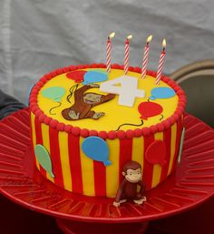 Curious George- personal cake for the birthday boy? Curious George Party, Curious George Cakes, Curious George Birthday, 3rd Birthday Parties, Boy Birthday, Birthday Ideas, Birthday Cakes, Third Birthday, Birthday Cake Pictures