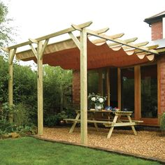 These free pergola plans will help you build that much needed structure in your backyard to give you shade, cover your hot tub, or simply define an outdoor space into something special. Building a pergola can be a simple to… Continue Reading → Diy Pergola, Pergola Retractable, Store Pergola, Building A Pergola, Backyard Canopy, Garden Canopy, Diy Canopy, Pergola Canopy, Canopy Outdoor