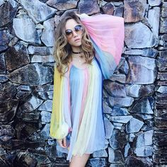 Pin for Later: The Best Style 'Grams From Coachella Weekend 1 —Straight From the Models and Stars Suki Waterhouse Showed Off Her Rainbow Chloé Dress