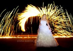 www.jennamartinphoto.com, bride and wedding photography   night photography  light painting