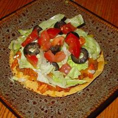 Chicken Tinga Tostados Recipe- I don't add all the extra junk on top :D Mexican Dishes, Mexican Food Recipes, Ethnic Recipes, Great Recipes, Favorite Recipes, Food Dishes, Main Dishes, Slow Cooker Recipes, Love Food