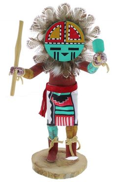 Hopi Ewiro or Warrior Kachina Doll Carving by Artist Clyde Harris ...