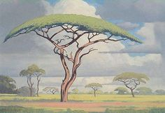 Another great Bushveld landscape painting by Jacobus Hendrik Pierneef South Africa Art, Art Galleries in South Africa, South African Artists. Landscape Drawings, Landscape Art, Landscape Paintings, South Africa Art, African Paintings, South African Artists, Tree Art, Beautiful Paintings, Oeuvre D'art