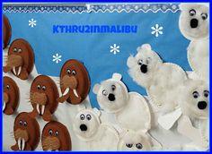 Polar Bear & Walrus Crafts from our POLAR HABITATS unit! Cute and easy!