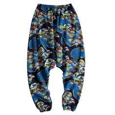 Harem Cotton Linen Big Crotch Trousers Wide Leg Loose Casual Hip-hop L – Benovafashion Harem Shorts, Loose Pants, Navy And Green, Linen Pants, Wide Leg Trousers, Jogger Pants, Fashion Pants, Cotton Linen, Casual Pants