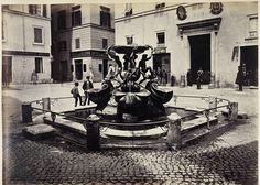 Piazza Mattei 1865 Rome, Italy Old Photos, Vintage Photos, Best Cities In Europe, Grand Tour, Rome Italy, Explore, History, Architecture, City