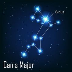 Location of Sirius in Canis major