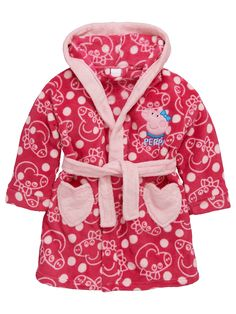 Peppa Pig Girls Robe with 3D Ears To Hood | very.co.uk