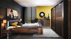 Mobilier import in Timisoara - Detolit Company Bedroom Bed Design, Modern Bedroom Design, Bedroom Decor, Master Bedroom, Furniture Board, Furniture Sets, Furniture Design, Black Upholstered Headboard, Antik Sofa