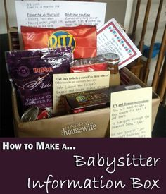 Popular Tutorial for How to Create a Babysitter Information Box to provide your babysitters with all the information they need about your children and home! Plus, free printables! | The Happy Housewife