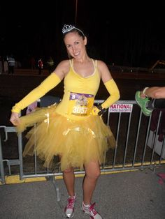 runDisney princess half marathon belle costume race tutu. Click to see more photos! My top and sleeves are form runningskirts.com