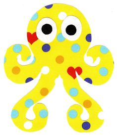 Octopus iron on applique DIY by patternoldies on Etsy, $3.00