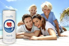 Oxygenated water in a can - energy and vitality for your family. Oxylife Kyslikova voda pro celou rodinu.