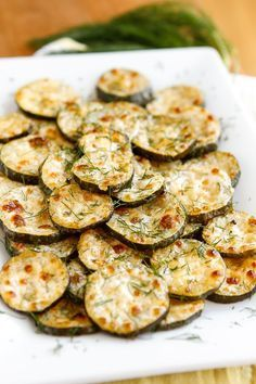 Baked Zucchini Recipe -- need a good zucchini recipe to use up your bounty? These Parmesan-Ranch Baked Zucchini Coins are absolutely fabulous! Ingredients available at Walmart.