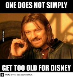 One does not simply get too old for Disney