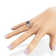 Princess Blue Diamond Engagement Ring Carat Square Diamond Ring Unique Two Tone Gold Engagement Ring , Celtic Engagement Rings, Tanzanite Engagement Ring, Ring Engagement, Natural Blue Diamond, Unique Diamond Rings, White Gold Rings, Etsy, Camellia, Princess