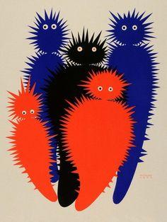 Poster illustration (ca by Austrian graphic artist & painter Julius Klinger Art And Illustration, Illustrations, Monster Illustration, Op Art, Kunst Poster, Mark Rothko, Grafik Design, Matisse, Art Inspo