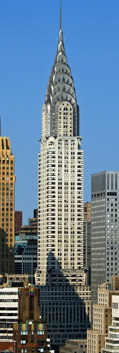 The Chrysler Building is an Art Deco style skyscraper in New York City. At 1,046 feet (319 m), the structure was the world's tallest building for 11 months before it was surpassed by the Empire State Building in 1931.